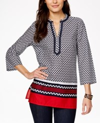 Tommy Hilfiger Printed Kurta Tunic Top