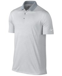 Nike Men's Victory Mini Stripe Polo Shirt White Black