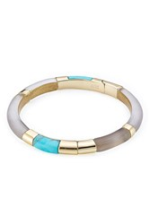 Alexis Bittar Colorblocked Hinged Bangle Gold
