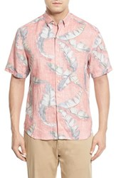 Men's Tommy Bahama 'South Of Fronds Breezer' Original Fit Linen Sport Shirt Acapulco