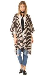 Mara Hoffman Zebra Sweater Cape Cream Multi