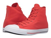 Converse Chuck Taylor All Star Shield Canvas Hi Signal Red White Obsidian Lace Up Casual Shoes