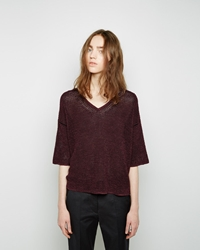 Isabel Marant Samoa Cropped Sweater Burgundy