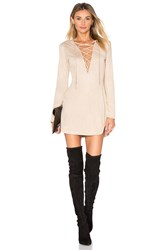 Wyldr Pretty Tied Up Dress Beige