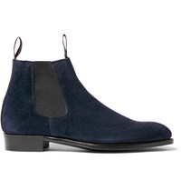 Kingsman George Cleverley Robert Suede Chelsea Boots Blue