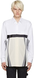 Comme Des Garcons White Cut Out Shirt