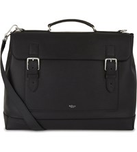 Mulberry Buckled Leather Holdall Black