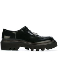 Brunello Cucinelli Fringed Lace Up Shoes Black