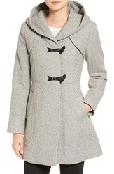 Jessica Simpson Women's Hooded Basket Weave Duffle Coat