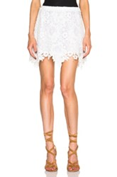 See By Chloe Lace Mini Skirt In White Floral