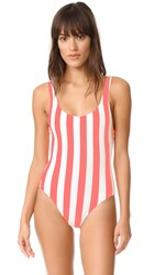 Solid And Striped The Anne Marie One Piece Pop Pink Cream Stripe