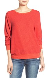 Wildfox Couture Women's Wildfox 'Baggy Beach Jumper' Pullover Holiday Red