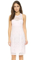 Nanette Lepore Antique Lace Shift Dress Pearl Pink