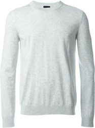 Lanvin Crew Neck Sweater Grey