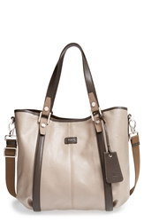 Tod's 'Medium Gg' Coated Canvas Shopper Taupe Brown