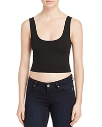Groceries Apparel Fitted Crop Top Black