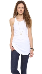 Splendid 2X1 Racer Back Tank Top White