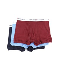 Tommy Hilfiger Cotton Trunk 3 Pack Garnet Men's Underwear Red