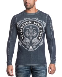 Affliction Live Fast Thermal Reversible Long Sleeve Shirt
