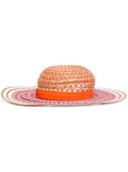 Missoni Striped Woven Hat Yellow And Orange