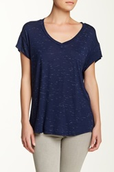 Olivia Moon Drop Shoulder Tee Blue