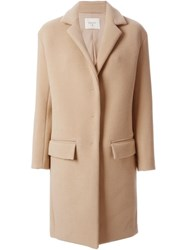 Dondup Classic Fitted Coat Nude And Neutrals