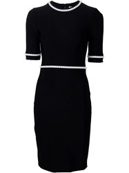 Thierry Mugler Mugler Pearl Embellished Fitted Dress Black