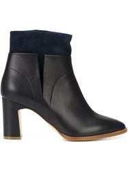 Rupert Sanderson Layered Effect Ankle Boots Black