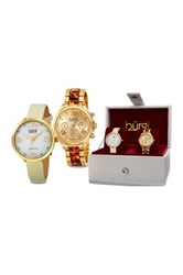 Akribos Xxiv Women's Watch Gift Set Metallic