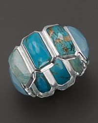 Ippolita Sterling Silver Rock Candy Brick Ring In Blue Multi