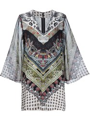 Alice Olivia Alice Olivia Printed Caftan Dress Multicolour
