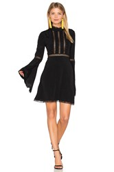 For Love And Lemons Willow Bell Sleeve Dress Black