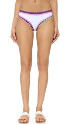 Kiini Yaz Boy Short Bikini Bottoms White Multi