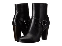 Frye Laurie Harness Short Black Smooth Polished Veg Women's Boots