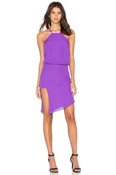 Mason By Michelle Mason Paneled Midi Dress Purple