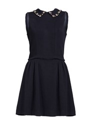 Aftershock Dien Bodice Dress Navy