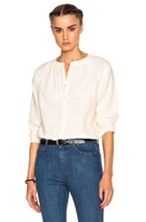 A.P.C. Laurie Blouse In Neutrals White