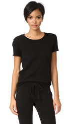 White Warren Cashmere Essential Pocket Tee Black