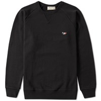 Maison Kitsune Tricolour Fox Crew Sweat End. Exclusive Black