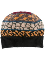 Paul Smith Ps By Multiple Pattern Knit Beanie Black