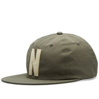 Norse Projects Summer Cotton 6 Panel Cap Green