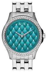 Women's Ax Armani Exchange Bracelet Watch 36Mm Silver Teal
