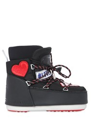 Moon Boot Msgm Embroidered Patches Nylon Snow Boots