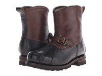 Frye Warren Duck Engineer Black Multi Wp Smooth Pull Up Shearling Lined Men's Pull On Boots Brown