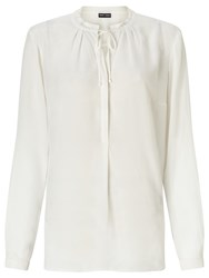 Gerry Weber Ruffle Trim Blouse Off White