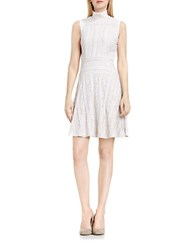 Vince Camuto Sleeveless Lace Flare Dress Antique White