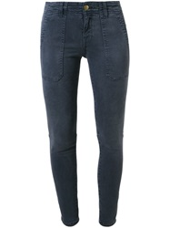 Current Elliott 'The Conductor' Skinny Trousers Blue