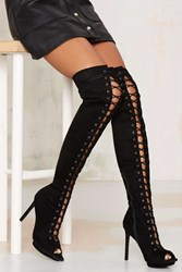 Nasty Gal Clarissa Over The Knee Lace Up Boot