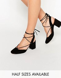 Asos Serene Lace Up Heels Black