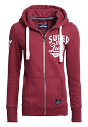 Superdry Lucky Aces Zip Hoodie Red